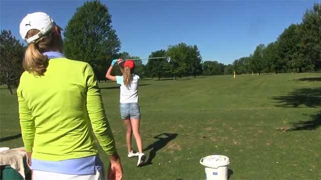 Golf Channel's Kellie Stenzel visits Seneca Falls Country Club