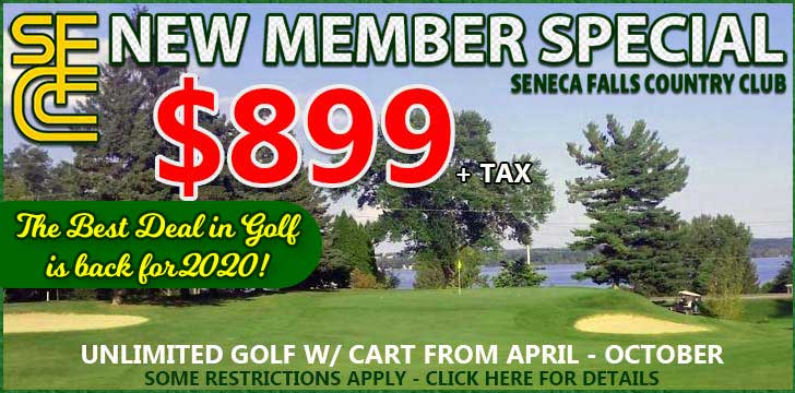 NEW MEMBER DEAL FOR 2020 SEASON: Golf w/ cart all season long for $899!